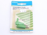 Philmore 28-1145 Stackable Plug 4mm-Solder Type/Green-2Pk (bin41)