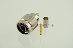 N Male Crimp Connector Teflon Gold RG-58 - by W5SWL
