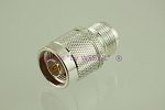Coax Adapter N Male to UHF Female SILVER - by W5SWL