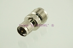 Coax Adapter UHF Female to Mini-UHF (MUHF) Male - by W5SWL