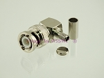 W5SWL Brand Premium Series BNC Male Right Angle Crimp Coax Connector fits RG-58