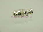 W5SWL Brand Premium Series Silver BNC Male to N Female Coax Adapter Connector
