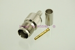 TNC Female Crimp Connector for RG-58 LMR195 Coax 2-Pack - by W5SWL