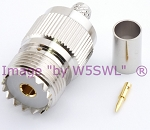 Coax Connector UHF Female Crimp fits RG-8X LMR-240 Series Cable - by W5SWL