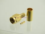 Reverse Polarity SMA Male Crimp RG-58 LMR195 GOLD 2-Pack - by W5SWL