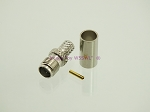 SMA Female Crimp Connector RG-58 LMR195 2-PACK - by W5SWL
