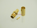 SMA Female Crimp Connector RG-58 LMR195 GOLD 2-Pack - by W5SWL