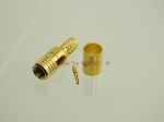 SMB Plug Crimp Connector for RG-58 LMR195 Teflon Gold Gold - by W5SWL