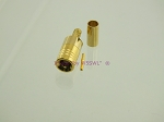 SMB Plug Teflon Gold Crimp Connector for RG-174 LMR100 Coax Cables - by W5SWL