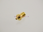 Gold MMCX Plug to SMA Female Coax Adapter Connector - by W5SWL