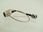 RP TNC Male to N Male RG-316 Cable Adapter Jumper - by W5SWL
