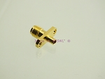 SMA Female Chassis Mount Connector Gold for Semi-Rigid 0.085
