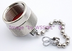 Coax Dust Cover Cap with Chain - Covers N or UHF Female - by W5SWL