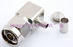 N Male Right Angle Hex Crimp Connector fits LMR240 RG-8X Mini-8 - by W5SWL