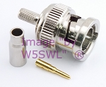 W5SWL Brand Premium Series BNC Male Crimp Coax Connector fits RG-179 2-Pack
