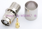 Reverse Polarity TNC Male Crimp Connector fits LMR600 Coax Cables - by W5SWL