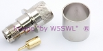 Reverse Polarity TNC Female Crimp Connector LMR600 Coax Cables - by W5SWL