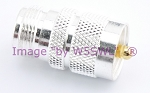 Coax Adapter Silver UHF Male to N Female - by W5SWL