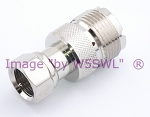 Coax Adapter UHF Female to Type F Male - by W5SWL