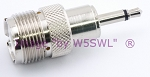 Coax Adapter UHF Female to 3.5mm 1/8