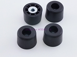Set of 4 - Tall Round Rubber Feet .875