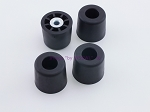 Set of 4 - Tall Round Rubber Feet 1.125