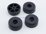 Set of 4 - Round Rubber Feet .648