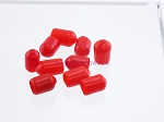 Coax Cap Cover SMA Female Series Red Rubber 10-PACK - by W5SWL