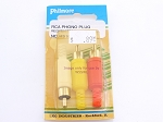 Philmore MS162 RCA Phono Plug Red/White/Yellow-3Pk (bin44)