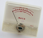 MACO YN-250 Power Output Signal Power Amplifier Panel Meter