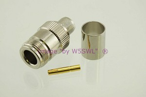 Coax Connector N Female Crimp RG-9 and RG-214 - by W5SWL