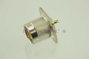Coax Connector N Male Chassis Bulkhead Connector SILVER - by W5SWL