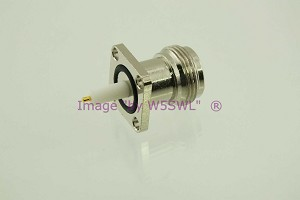 N Female Chassis Connector - Extended - Teflon Panel Mount - by W5SWL