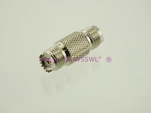 Coax Adapter Mini-UHF (MUHF) Double Female Barrel - by W5SWL