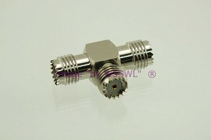 Coax Adapter Mini-UHF Triple Female Tee (F-F-F) - by W5SWL