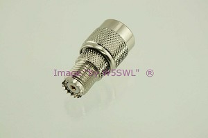 Coax Adapter TNC Male to Mini UHF Female - by W5SWL