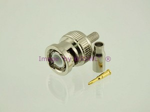 W5SWL Brand Premium Series BNC Male Crimp Coax Connector RG-174 LMR100  2-Pack