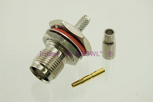 TNC Female Bulkhead Connector fits RG-174 LMR100 Coax Cables - by W5SWL