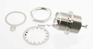 Coax Connector UHF Female Chassis Mount  - by W5SWL