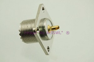 Coax Connector Teflon UHF Female 4-Hole Chassis Mount  - by W5SWL