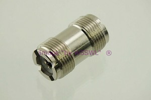 Coax Adapter UHF Female to UHF Female Coupler - by W5SWL