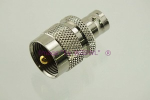 Coax Adapter UHF Male to BNC Female - by W5SWL