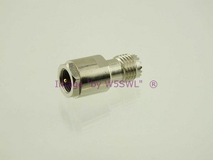Coax Adapter FME Male to Mini-UHF Female - by W5SWL