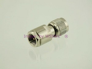 Coax Adapter FME Male to Mini-UHF Male ( MUHF ) - by W5SWL