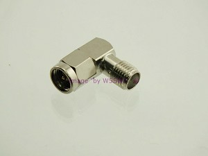 SMA Male to Female Right Angle 90 Deg Elbow Adapter Connector - by W5SWL