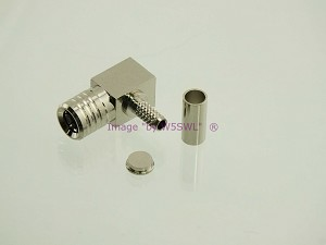 SMB Plug Crimp RIGHT ANGLE Connector fits RG-174 LMR100 Coax Cable - by W5SWL