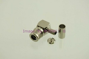 QMA Male Right Angle Quick Connector for RG-58 LMR195 PAIR - by W5SWL