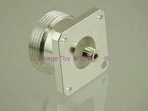 W5SWL Brand Premium Series 7/16 DIN Silver Female Chassis Mount Coax Connector