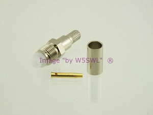 Coax Connector FME Female Crimp RG-58 2PK - by W5SWL