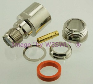 Coax Connector UHF Female Clamp fits LMR-600 Series Cable - by W5SWL
